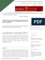 Intervención Psicoeducativa Para Disminuir El Estrés Académico en Estudiantes de Primer Año de Medicina _ Díaz Martín _ Revista Electrónica Dr. Zoilo E