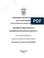 Informe instalación de Centos Sistemas Operativos II