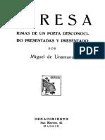 Teresa Rimas de Un Poeta Desconocido 780047