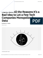 HBR Stucke - Here Are All the Reasons It's a Bad Idea to Let a Few Tech Companies Monopolize Our Data