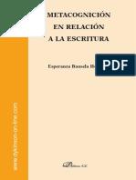 LIBRO METACOGNICIÓN DE LA ESCRITURA