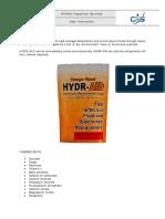 Hydr Aid Use
