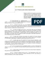 PORTARIA Nº 572GC6 - Termo de Opcoes de Lesp
