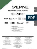 Alpine Cde-103bt En