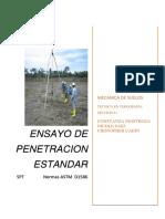 ensayo de penetracion estandar SPT mecanica de suelos