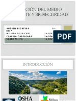 Relación del Medio ambiente y Bioseguridad
