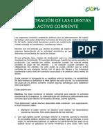 Andministracion de La Cuentas Del Activo Corriente