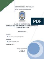 CALOR DE NEUTRALIZAION DE SOLUCION