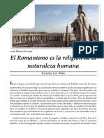 19 de Febrero de 1894 El Romanismo Es La Religión de La Naturaleza Humana