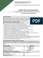 Liquidacion Chinta - Sandia