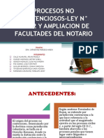 PROCESOS NO CONTENCIOSOS-LEY N° 26662 Y AMPLIACION