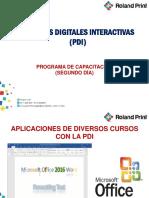 Dia 2 Pizarras Digitales Interactivas (Pdi)