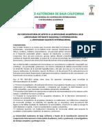Xvi Convocatoria de Movilidad Académica 2018_ Movilidad Entrante y Saliente _5 Abril de 2018