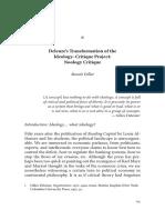 Deleuze's Transformation of the Ideology Critique Project Noology Critique