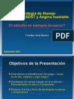 SCA Sin SDST Tto Invasivo vs Conservador DIPRECA