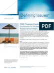 Defining Issues 10-38 FASB Proposes Expanded Disclosures for Multi Employer Post Retirement Plans