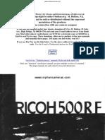 Ricoh 500 Rf manual