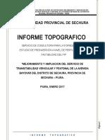 Informe Topografico Av Bayovar Sechura -Levantamiento de Obs 24.04.17