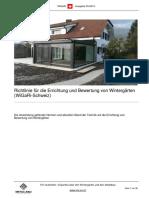 Richtlinie für die Errichtung und Bewertung von Wintergärten (WiGaRi-Schweiz) Ausgabe 09-2015