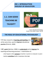 1.1. Can Good Teaching Be Taught