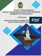 Rencana Kerja Pemerintah Daerah Kota Yogyakarta Tahun 2018