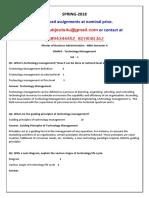 ISM403 - Technology Management