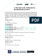 Remember Reciprocals of Numbers With Shortcuts in PDF
