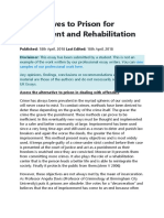 Alternatives to Prison for Punishment and Rehabilitation