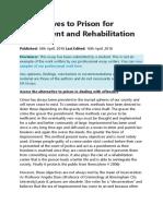Alternatives to Prison for Punishment and Rehabilitation