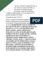 Juan 21,20-25