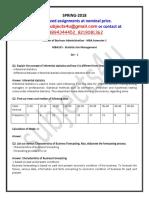 MBA103 - Statistics for Management