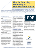 Teaching Swimming to Studens With Autism