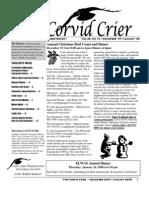 Dec 2007 Corvid Crier Newsletter Eastside Audubon Society