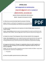 BBA602 - Management Development and Skills