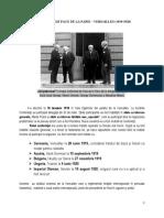 Conferinţa de Pace de La Paris – Versailles (1919-1920)