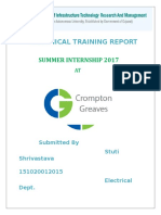 Crompton Greaves Training Report