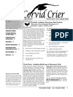 Jul-Aug 2008 Corvid Crier Newsletter Eastside Audubon Society