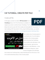 C# Tutorial_ Create PDF File