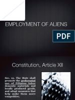 Employment of Aliens