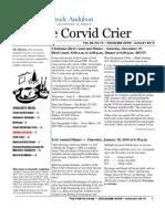 Dec 2009 Corvid Crier Newsletter Eastside Audubon Society