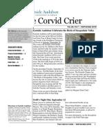 Sept 2009 Corvid Crier Newsletter Eastside Audubon Society