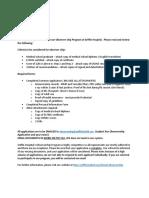 Griffin Observership Application