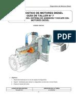 Lab. N° 7 Sist. de Admisión y Escape Diagnosticvo de Motores Diesel 4 D1 2018-1