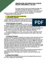 Tema 41- La Romanización. Influencia Del Latín en La Lengua Inglesa