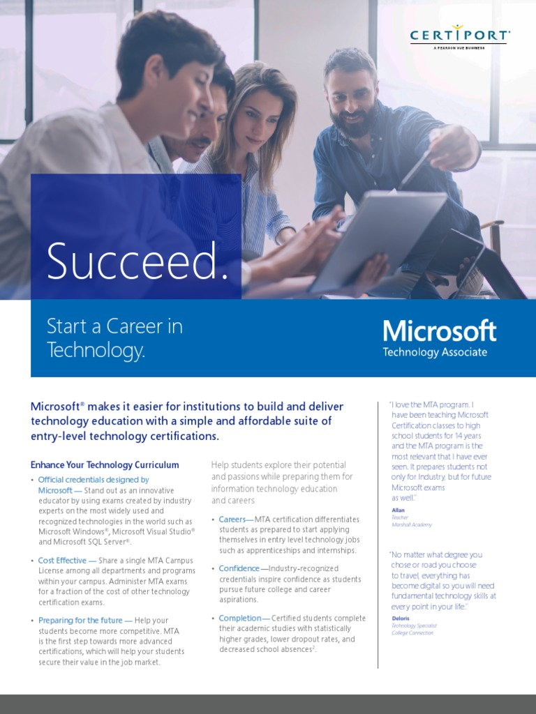 MTA Datasheet 2018 | Application Software | Microsoft