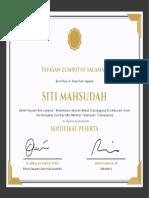 Purple and Gold Bordered Appreciation Certificate
