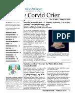 Feb 2010 Corvid Crier Newsletter Eastside Audubon Society
