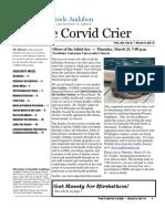 Mar 2010 Corvid Crier Newsletter Eastside Audubon Society