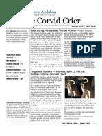 Apr 2010 Corvid Crier Newsletter Eastside Audubon Society