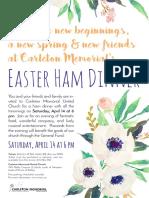 Easter Ham Dinner 2018